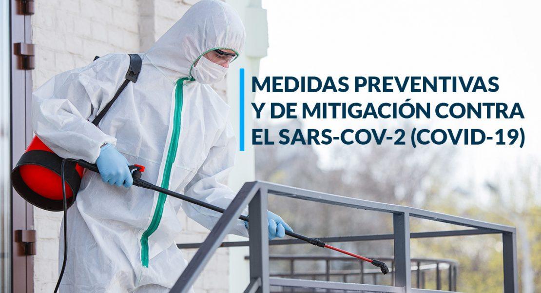COVID-19 Medidas preventivas y de mitigación contra el SARS-CoV