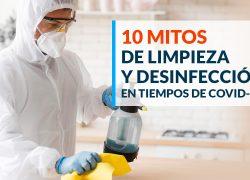 10 Mitos de limpieza y desinfección